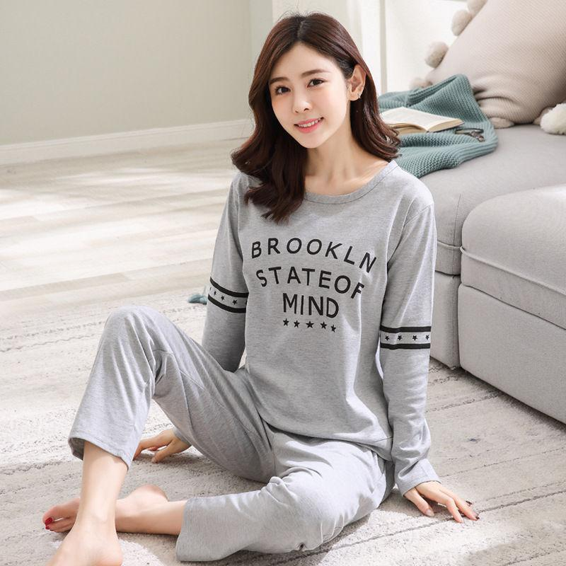 2018 Women Pajamas Sets Autumn Winter Long Sleeve Thick Printed Cute ... 24a3cce38