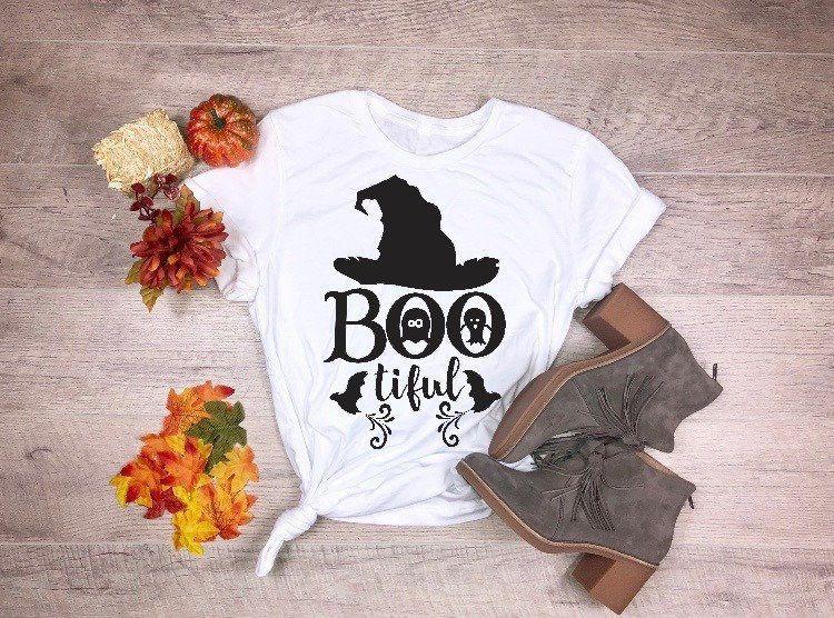 01ca755b1dde Women'S Tee Bootiful Shirt Womens Halloween Kawaii Graphic Ghost Cute Gift  For Her Fashion Pretty Tumblr Slogan Goth T Shirt Party Tee Tops Create T  Shirts ...