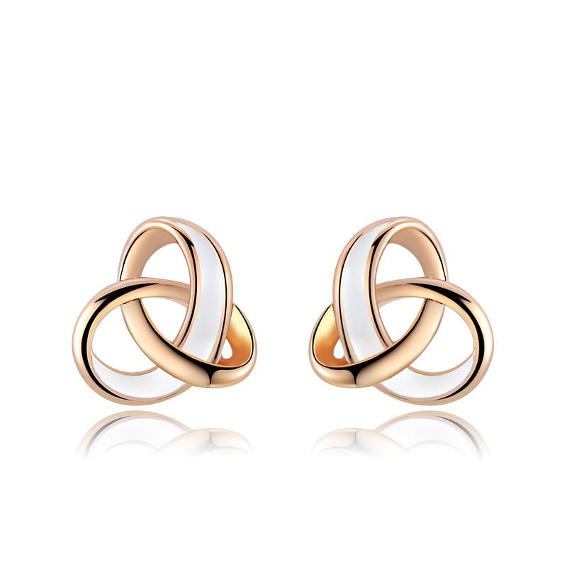 ROXI Brand Earring For Women Rose Gold Color Fashion Jewelry Charming Design Stud Earrings For Graduation Vacation Gift