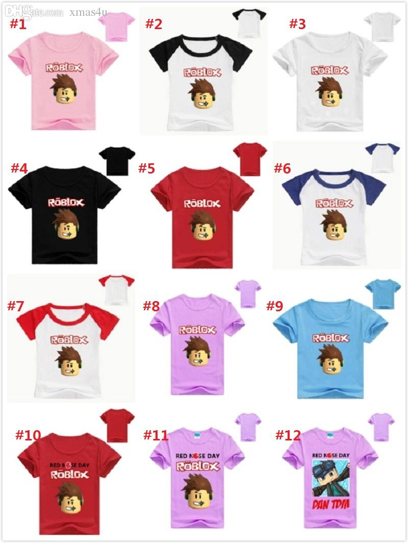 3-9Years Tollder Kids T Shirt Roblox T-shirt Boys Clothes Baby Girl Tops  Children Tshirt Summer Roupas Infantis Menino 25styles