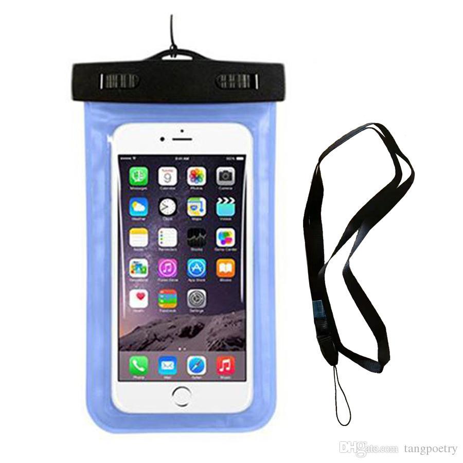 Pochette étanche Sac de protection en PVC universel pour téléphone avec étui pour sac de boussole pour la plongée sous-marine pour téléphone jusqu'à 5,8 pouces