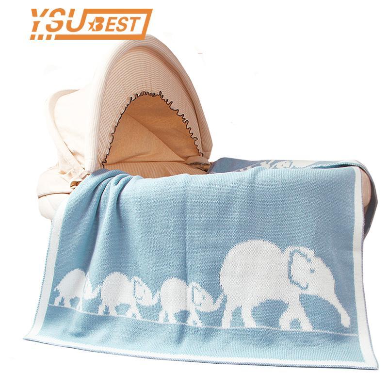 Großhandel Neugeborenen Baby Swaddle Decke Elefanten Häkeln Infant