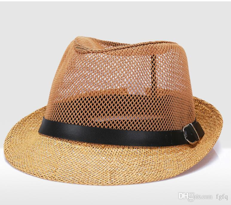 Acquista Outdoor i Moda Lavoro Manuale Donne Estate Lino Cappello Da Sole  Boho Beach Fedora Cappello Sunhat Trilby Uomini Panama Cappello Gangster  Cap A ... 6ad13cdc2b1a