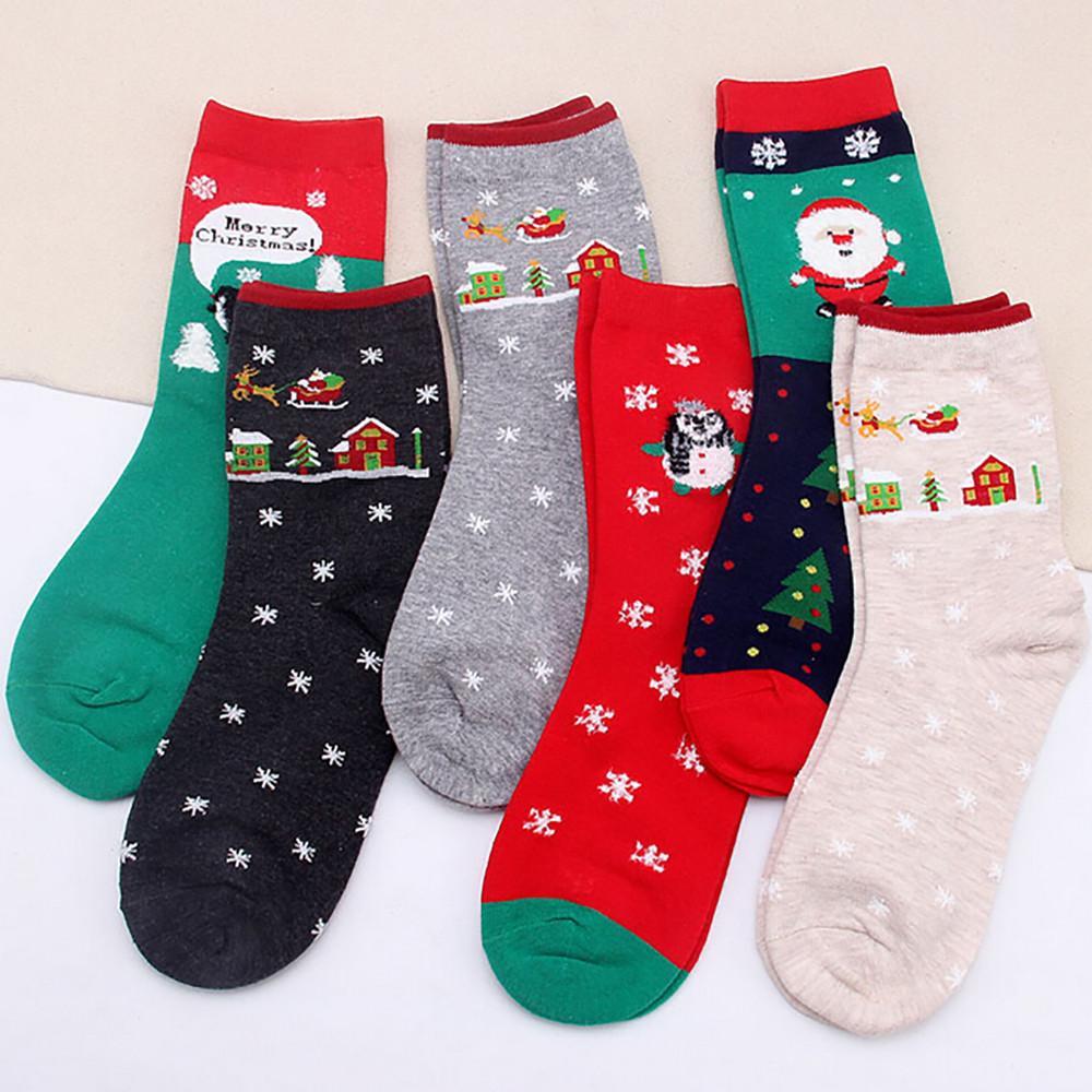 Großhandel Neue Weihnachten Stil Socken Frauen Mädchen Casual ...