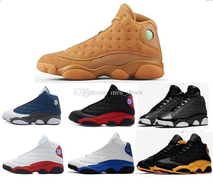 new product 53318 0047e New 13 Wheat Golden Harvest Flints Hyper Pink Men Basketball Shoes 13s Chicago  Bred Melo Sneakers High Quality With Shoes Box Jordans Sneakers Sneakers  Sale ...