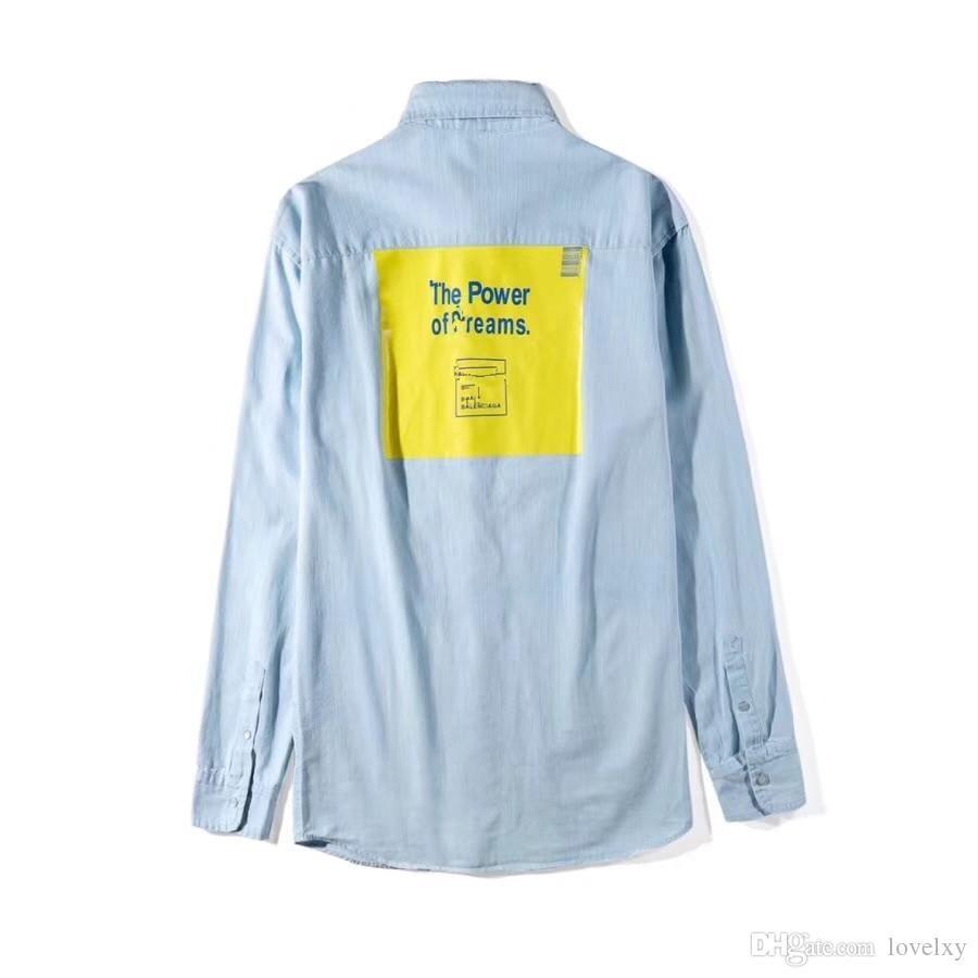 1e2f843a3fd01 Ms. Men's Hot Sale Shirt Jacket Long-sleeved Leisure Loose Letter ...