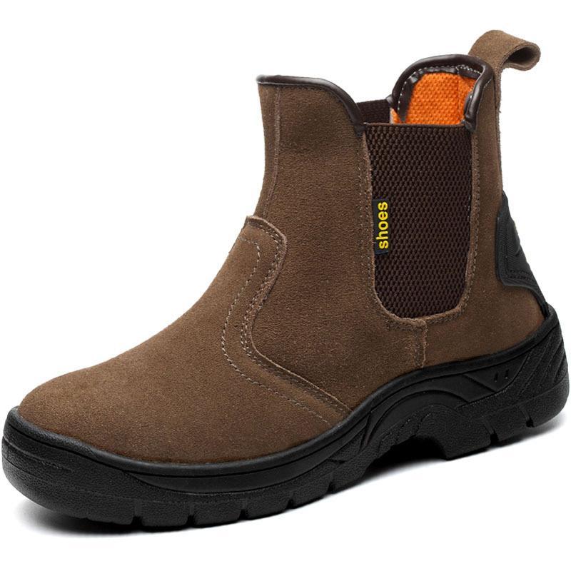 eb01577d69e Compre Calzado De Seguridad Calzado De Soldadura Eléctrico Prevención De  Aplastamiento Prevención De Pinchazos Y Salpicaduras Botas Altas De Cuero  Para ...