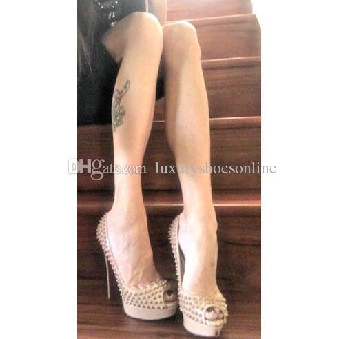 Elegant Red Bottom Women S Stiletto High Heels Lady Peep Toe Women Pumps  Nude Patent Leather Sexy Luxury Designer Ladies Party Wedding Dress Silver  Sandals ... 66c7b7d78d