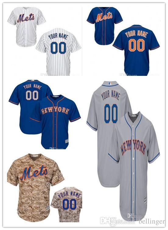 f30ec2b4d53 Custom Men Women Youth New York Mets Baseball Jerseys Personalized ...