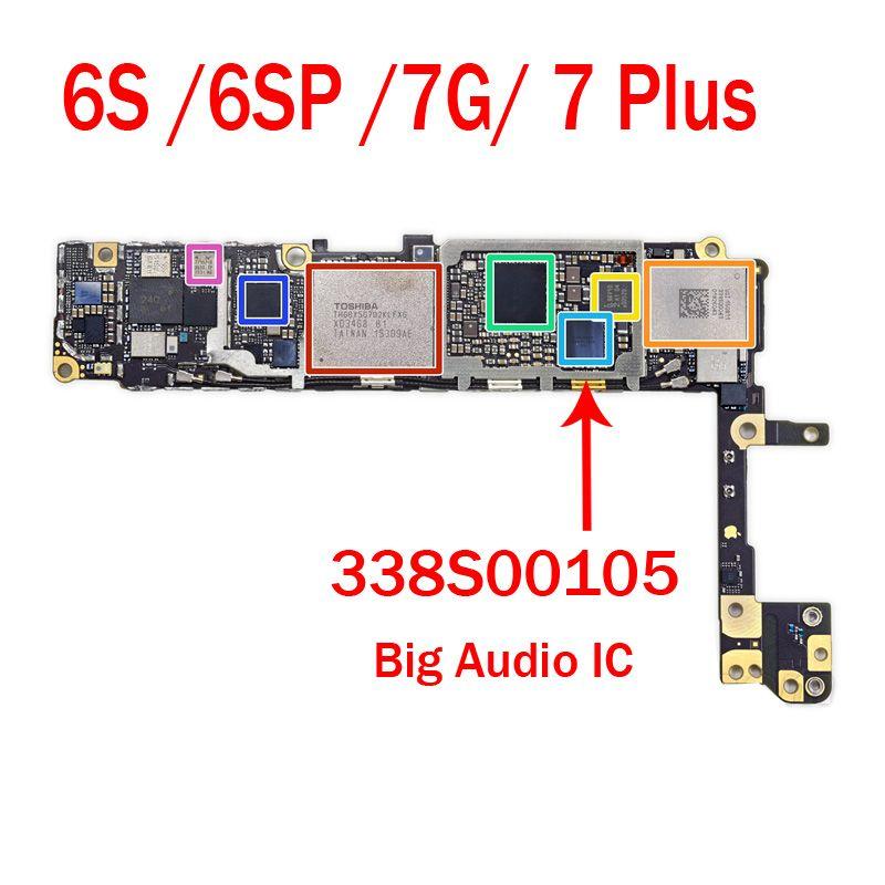 new style c517d 5e8a2 5pcs/lot Original New U3500 For iPhone 5SE 6S 6Splus U3101 7 7G 7Plus Big  Audio IC 338S00105 Large Audio Ring Chip Assembly Repair Parts