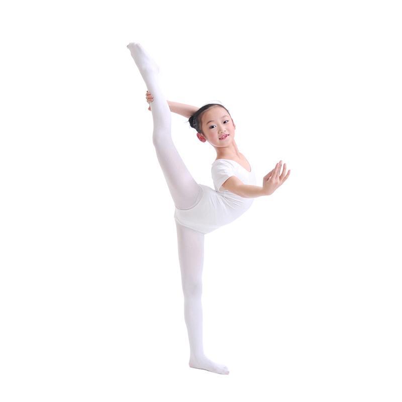42d9c45678a8 2016 Flexible Nylon Girls Ballet Dance Tights White  Nude Girl Kids ...