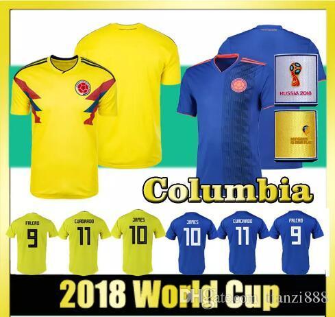 2018 World Cup Men S Football Jersey Columbia 10 JAMES 9 FALCAO 11 CUADRADO  National Team Home Away Football Jerseys UK 2019 From Tianzi888 4194015b4