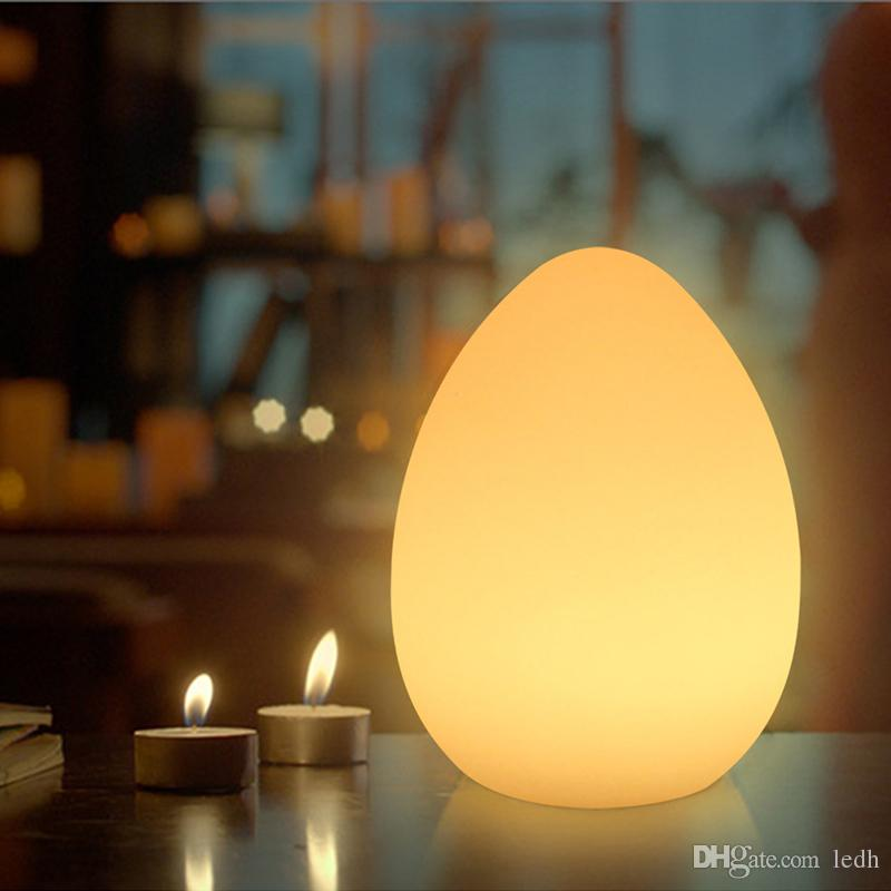 Graceful Led Mood Lighting Egg Shaped Table Lamp For