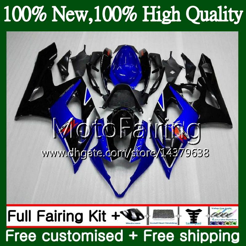 SUZUKI için siyah gövde GSX-R1000 GSXR-1000 K5 GSXR 1000 05 06 30MF3 GSX R1000 05 06 Vücut GSXR1000 2005 2006 Fairing Karoser seti