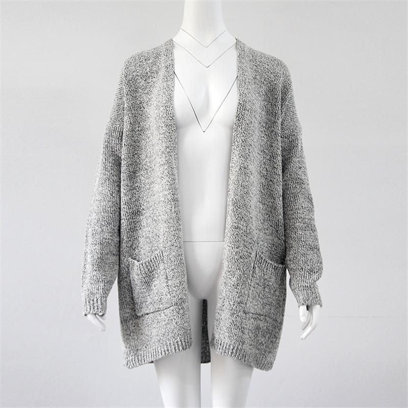 Women Knitting Cardigan Autumn Winter Long Sleeve Loose Knitted ... 7ce51ad79