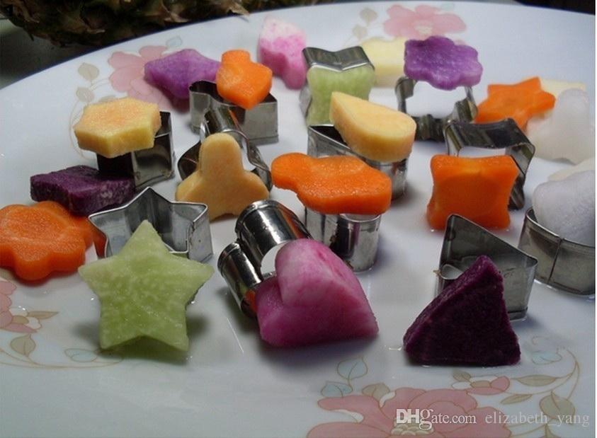 12 Unids / set Estrella Corazón Flor Forma Redonda Molde de Galletas de Pastel de Acero Inoxidable Multifuncional Galleta Huevo Fondant Molde DIY