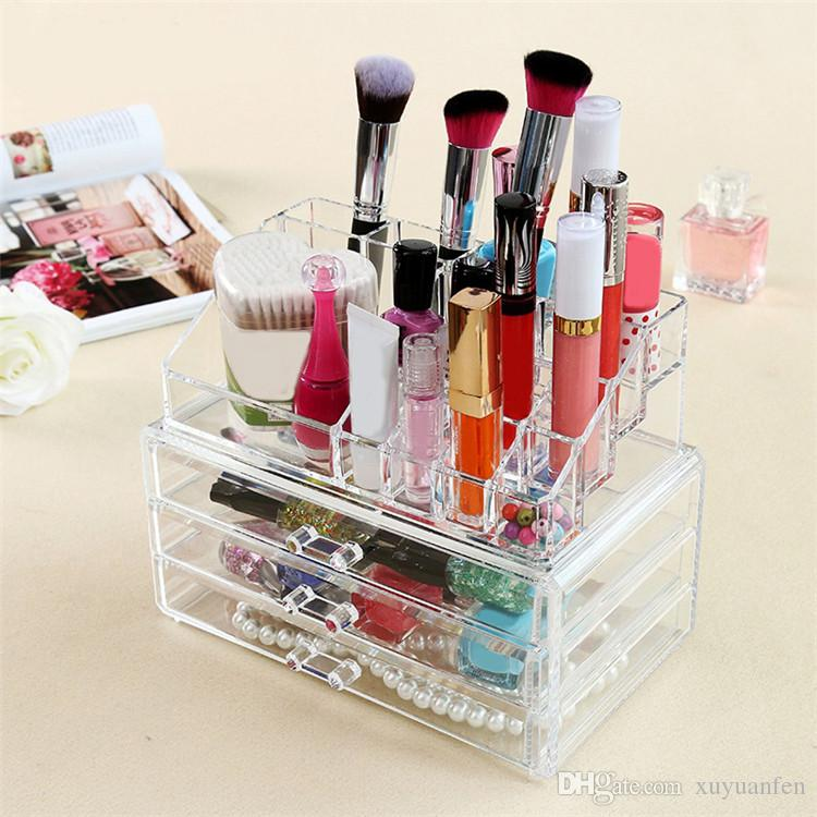 2017 Hot New Makeup Organizer Storage Box Acrylic Cosmetic Organizer Makeup  Storage Drawers Large Jewelry Box Underbed Storage Vanity Case From  Xuyuanfen, ...
