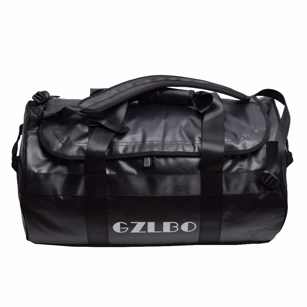 GZLBO 65L Popular PVC Waterproof Bag Black Travel Bag Waterproof Duffel Bag  Large Duffel Bags Cheap Duffle Bags From Bag80555 a767b05bf2664