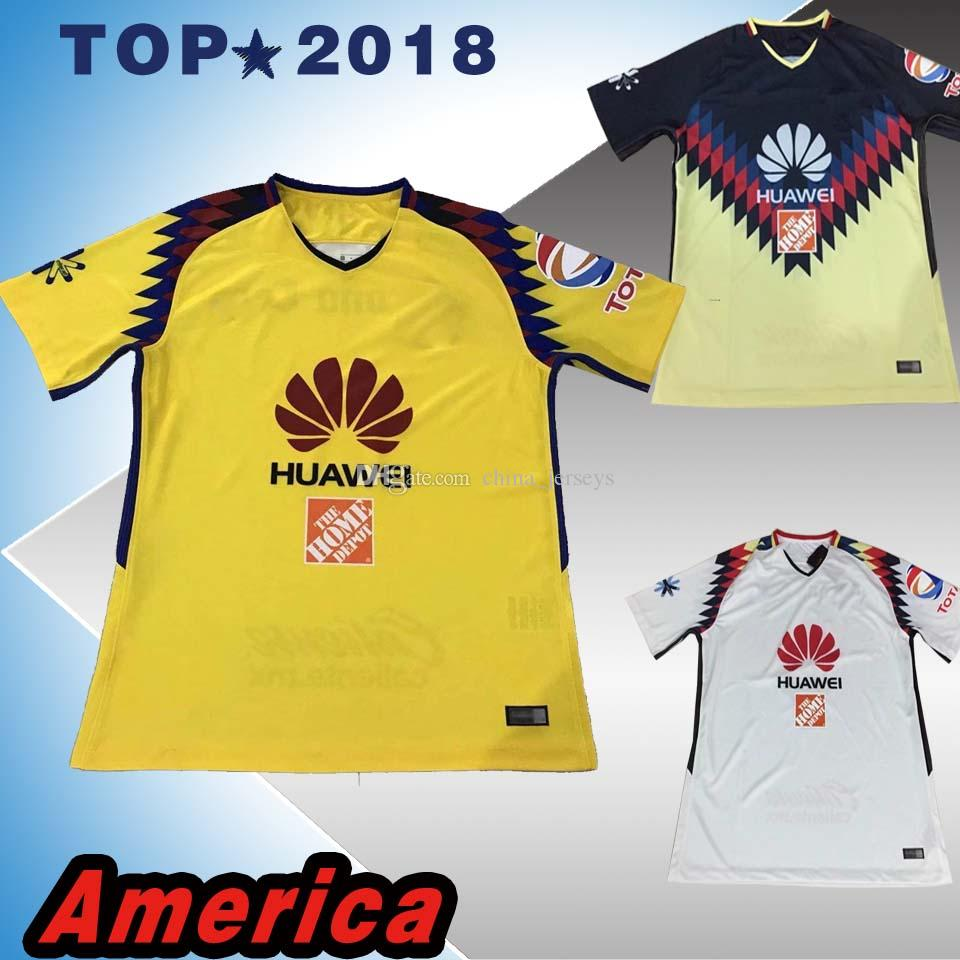 2019 17 18 Top Thai Quality LIGA MX Club America Soccer Jerseys 2017 2018  SAMBUEZA Camisetas O.Peralta American Football Shirts From China jerseys 996116e6f