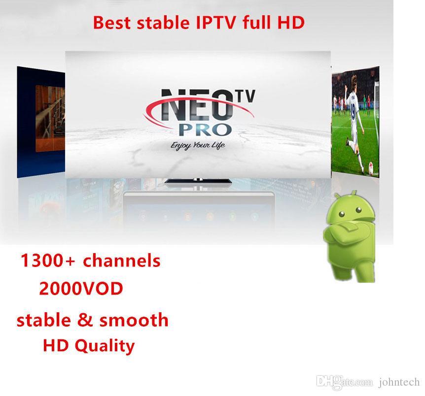 Neotv pro 1300 canaux français IPTV Europe arabe Belgique Code d abonnement  IPTV liveTV M3U android enigmas 2 boîte à puce smart TV