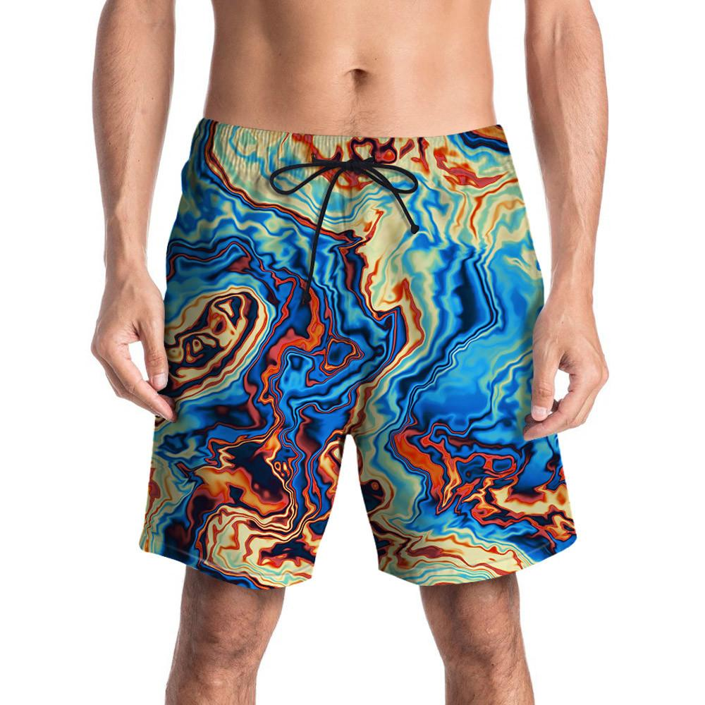 Badpak Short.2019 Mens Swimwear Swimming Shorts 3d Graffiti Printed Beach Men