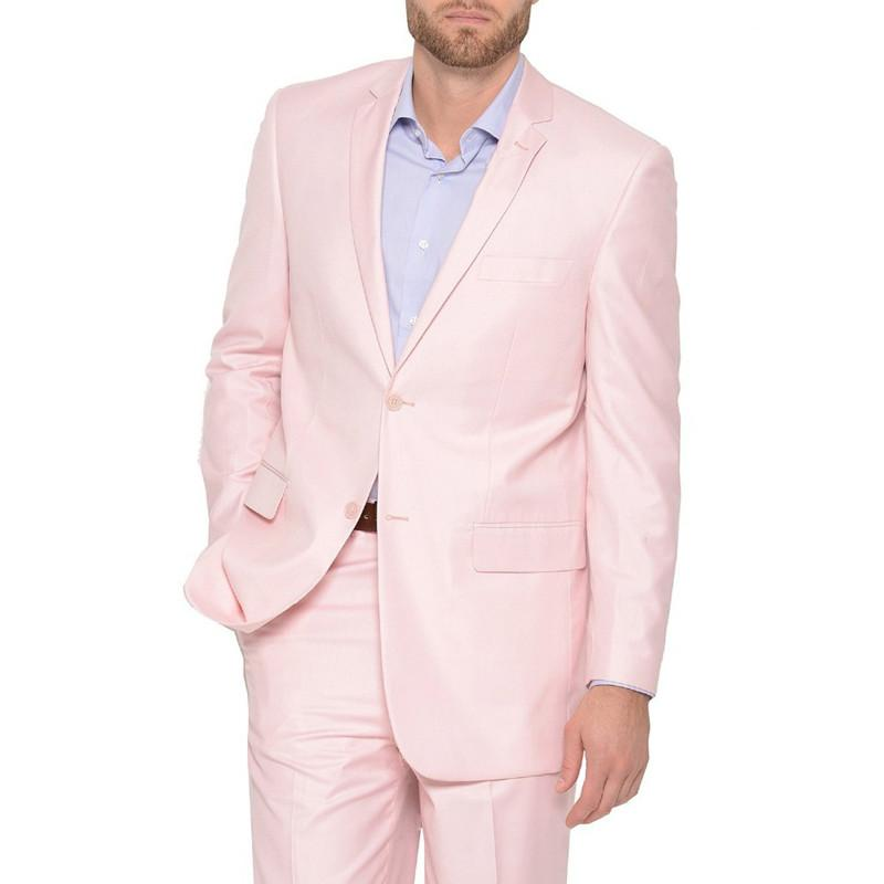 91479d346b Custom Made New Style Pink Men s Suit Two Button Notch Lapel Wedding ...