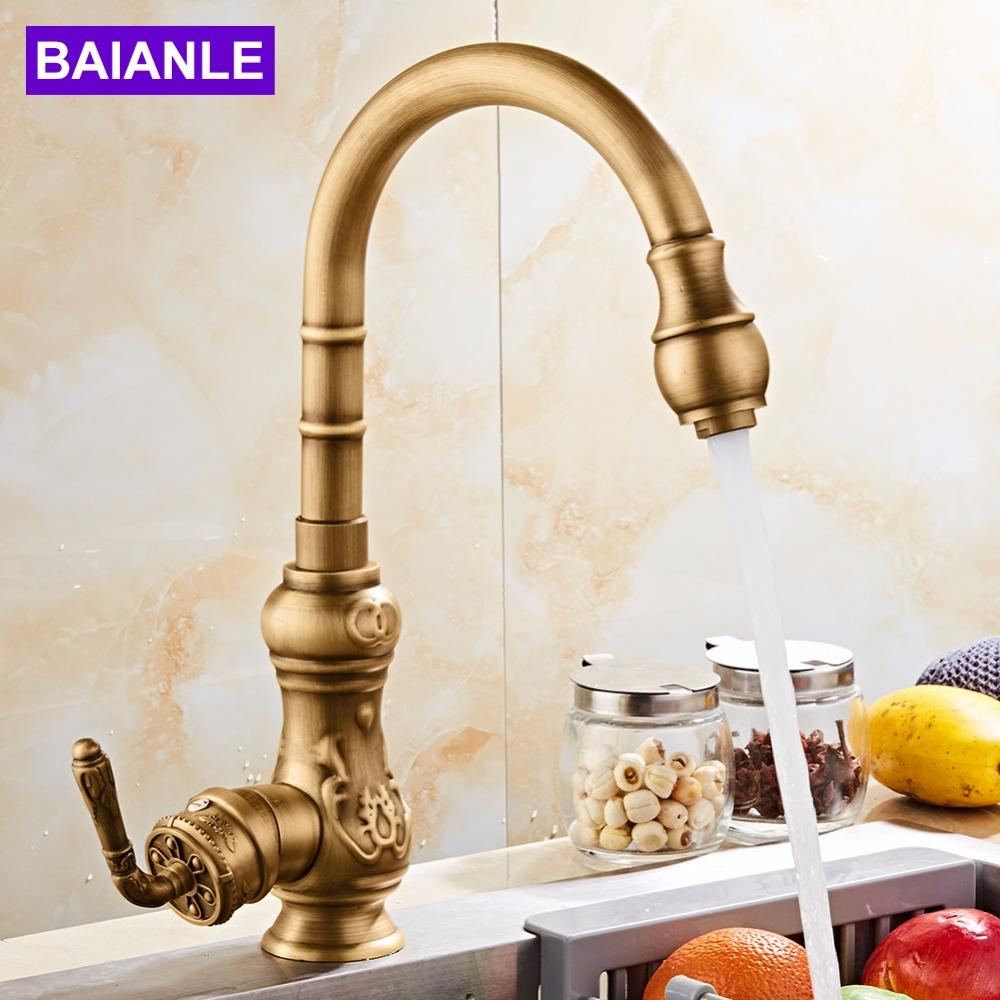 Kitchen Faucet Contemporary Single Handle Hot And Cold Water Antique