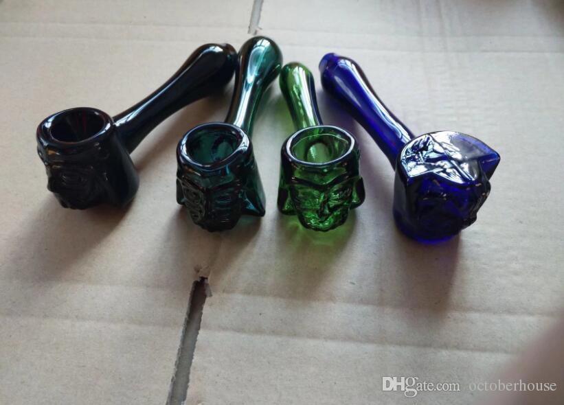 Queimador de óleo Colher de vidro Cachimbos cigarro de tabaco 11.5cm 2 Tipos de Água Bongos Rig Oil Tools Drip Tips Bongs