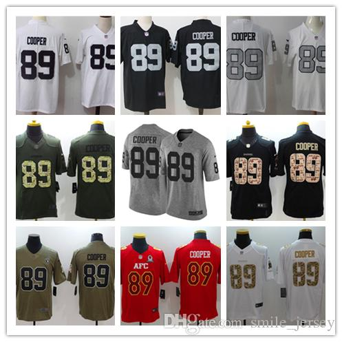 huge selection of 96cac 3d95d New Mens 89 Amari Cooper Oakland Jersey Raiders Football Jerseys 100%  Stitched Embroidery Raiders Amari Cooper Color Rush Football Shirt