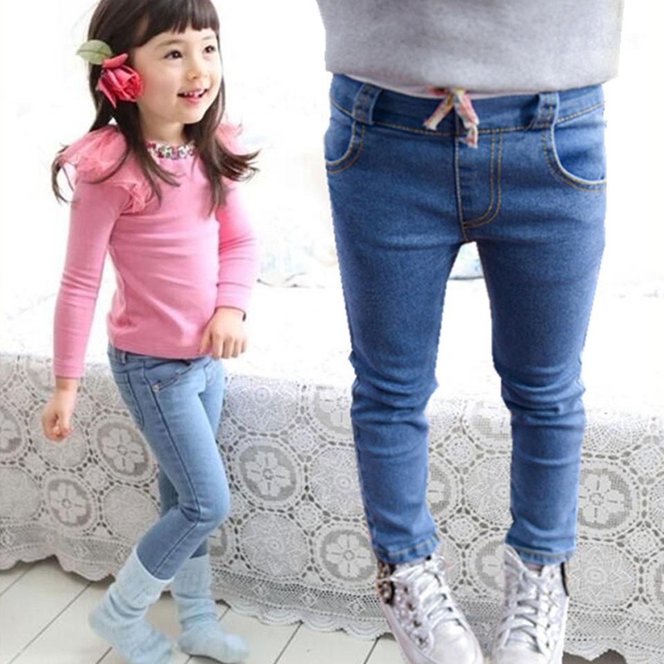 0d403644e6a 2018 New Style Girls Jeans Kids Clothing Pants For Girls Spring Trousers  Children Jeans Elastic Waist Solid Fashion Jean Shirt For Boys Infant Skinny  Jeans ...