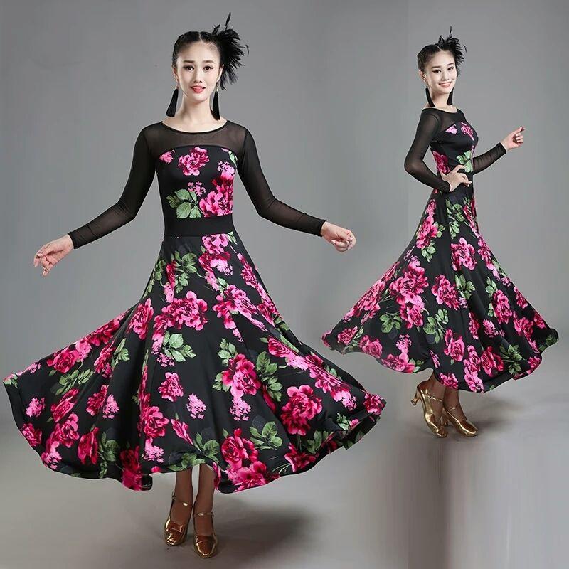 f5e16a4cd Lady Ballroom Dance Dress Modern Dance Competition Costume Women ...