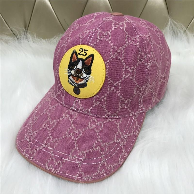 2018 New Hat Fashion Men And Women Canvas Baseball Cap Cap Hat Puppy  Embroidery Pattern Outdoor Leisure Sun Hat Cap Pink Baseball Caps For Men  Mesh Hats ... ee358c74dbd4