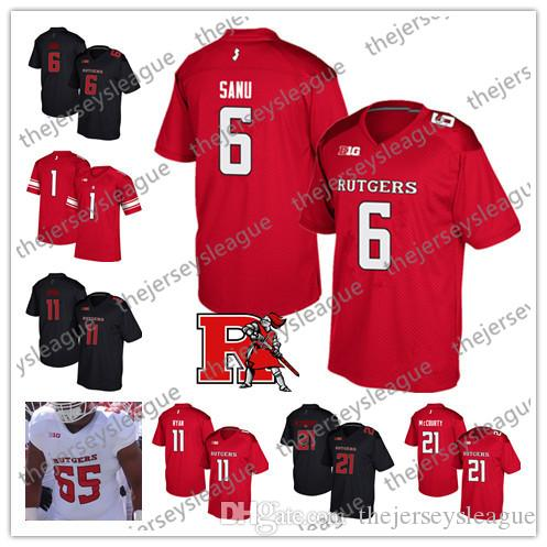 online store ef39f ad937 Rutgers Scarlet Knights #21 Jason McCourty 6 Mohamed Sanu 11 Logan Ryan Red  Black White Best Stitched NCAA College Football Jerseys