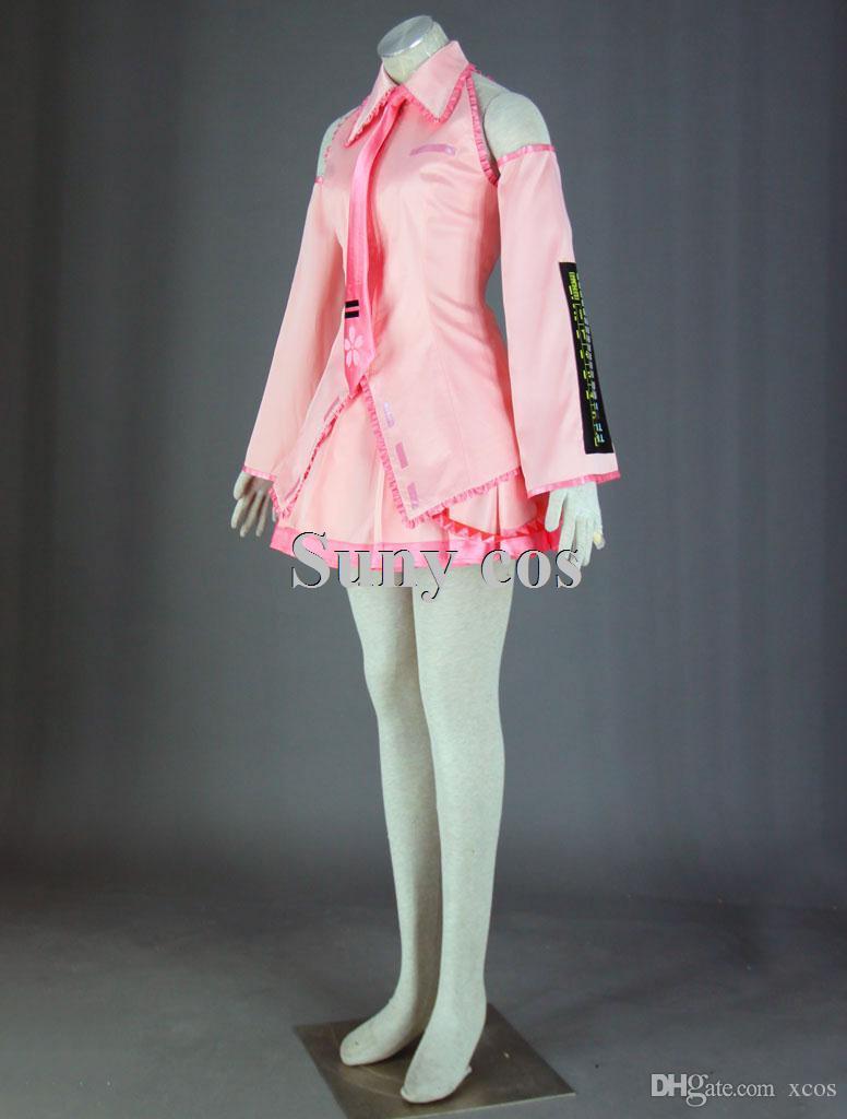 Vocaloid Sakura Hatsune Miku Costume Cosplay