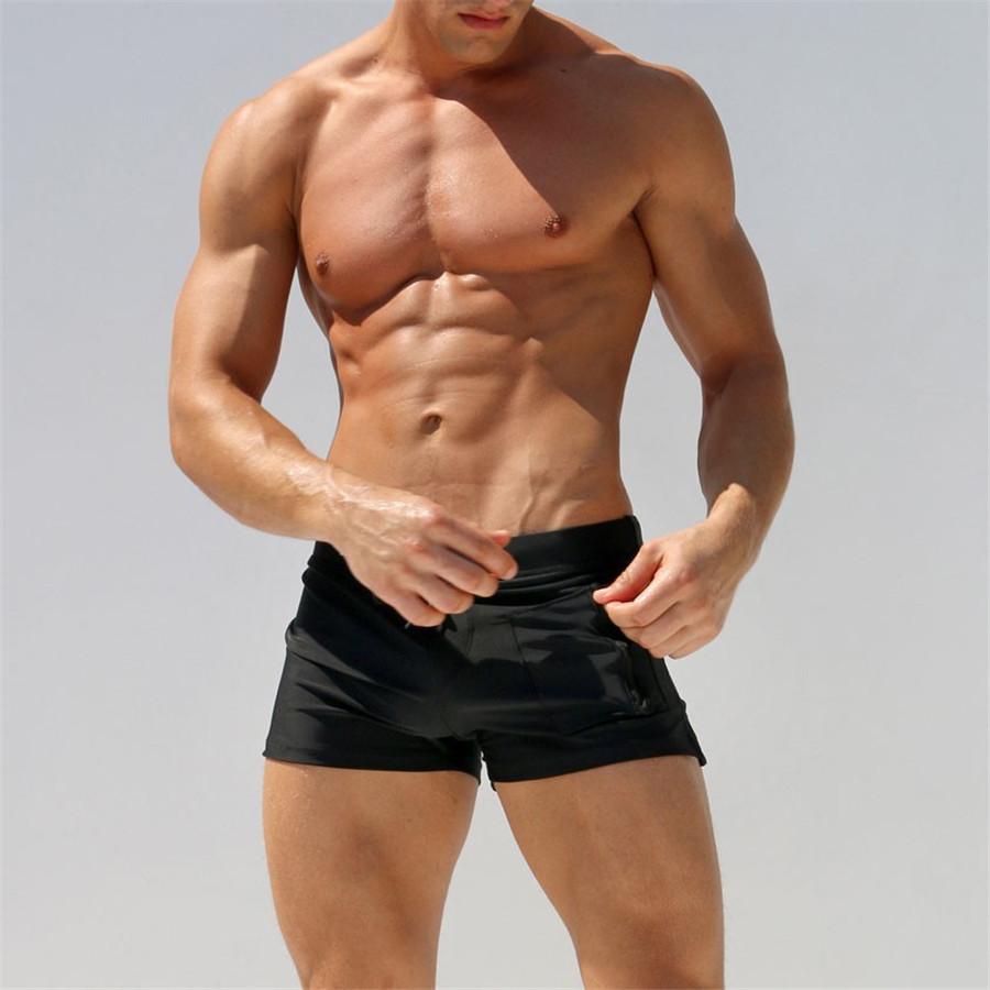 Man In Zwembroek.2019 2018 New Swimwear Men Swimming Trunks Man Sexy Zwembroek Heren