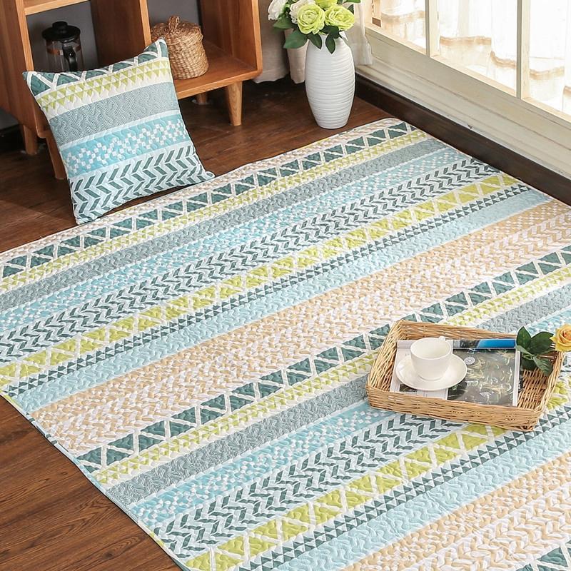 Großhandel Nordischen Stil Baumwolle Teppich Teppich Geometrische