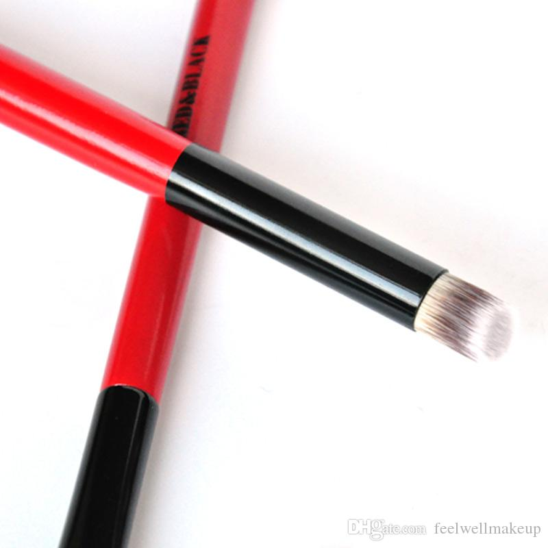 RedBlack 코 컨실러 아이 섀도우 골드 블랙 플랫 브러쉬 페이스 파우더 파운데이션 도구 블러셔 메이크업 브러쉬