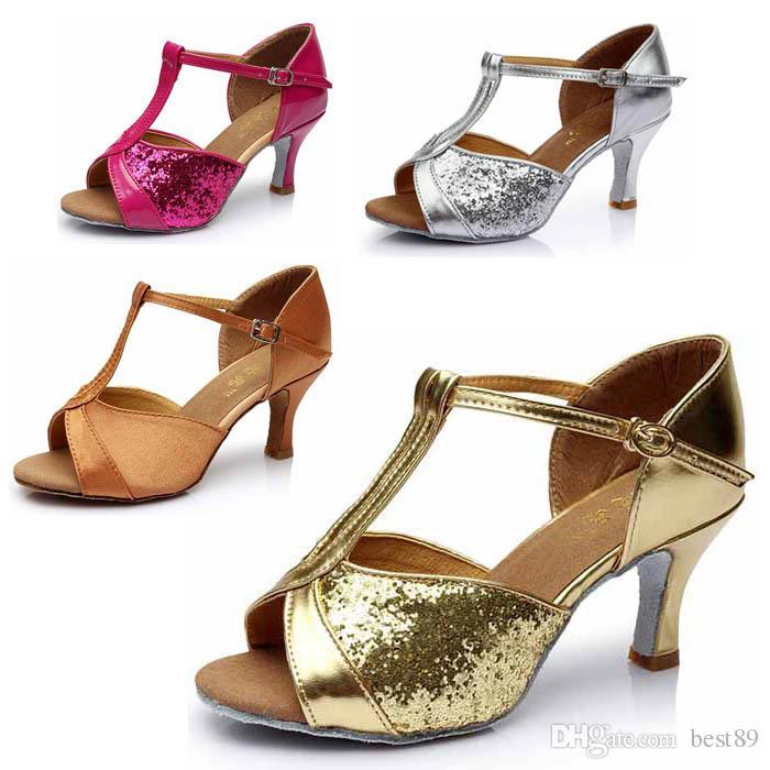 dd6ee7a8 Compre Zapatos De Baile De Tango Latino Para Mujer Para Niña, Salón De Baile,  Zapatos De Interior, Zapatos De Marca De Descuento, Tacón Alto, 7 Cm  WZSP808 A ...