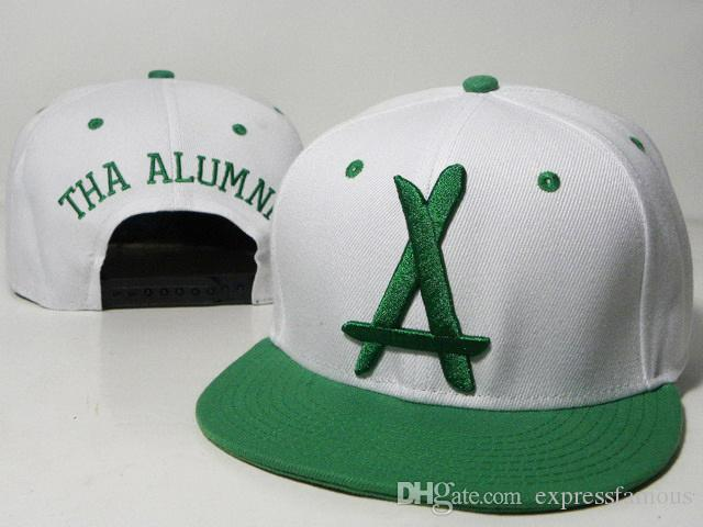 Hot Brand New Style Adjustable tha Alumni Snapback Caps white A letter Hip Hop Sport Hats Baseball Snap back Caps for men women