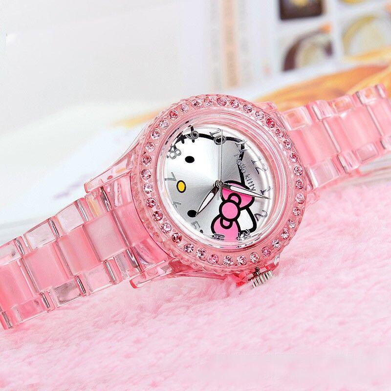 4fd72e695aa Compre 2018 Transparentes Hello Kitty Crianças Strass Assistir Crianças  Relógios Para Meninas Estudante Criança Quartzo Relógio De Pulso Relógio  Montre ...