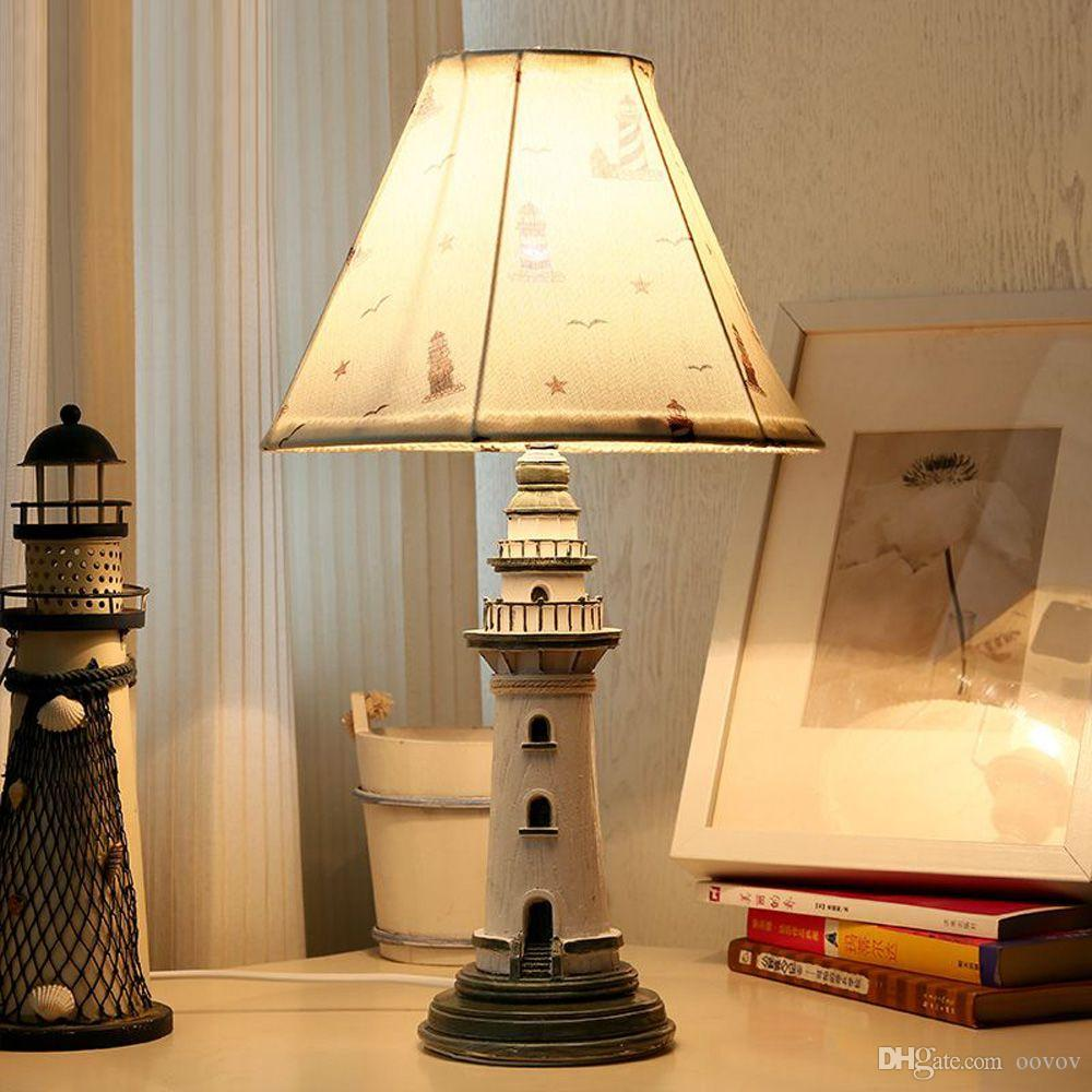 2019 Oovov Mediterranean Lighthouse Childs Room Desk Lamp Fashion