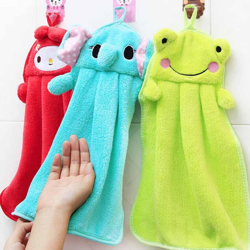 Animal Character Kids Hanging Hand Towel Cute Animals Baby Children Cartoon Kitchen Towels On Bath Sheet From Douglass