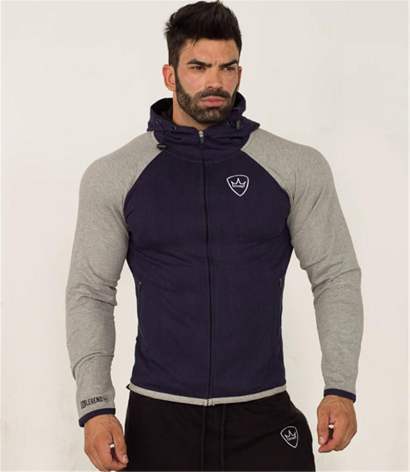 d60eef7affba6 2019 NEW Mens Running Jackets Fitness Winter Sports Coat Outdoor Training  Muscle Gyms Corset Hooded Zipper Warm Brand Jacket For Men From Yarqi, ...