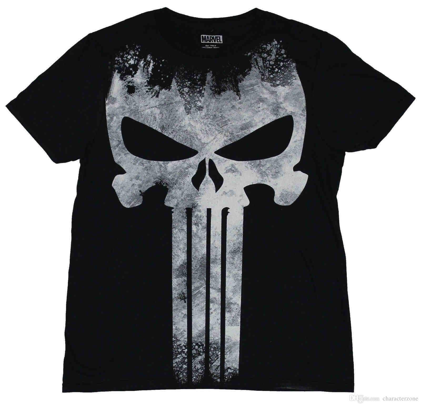 Compre Camiseta Para Hombre The Punisher Marvel Comics Castigadora Apenada  Blanca Gigante A  10.45 Del Diyteemall  ce1f1318345
