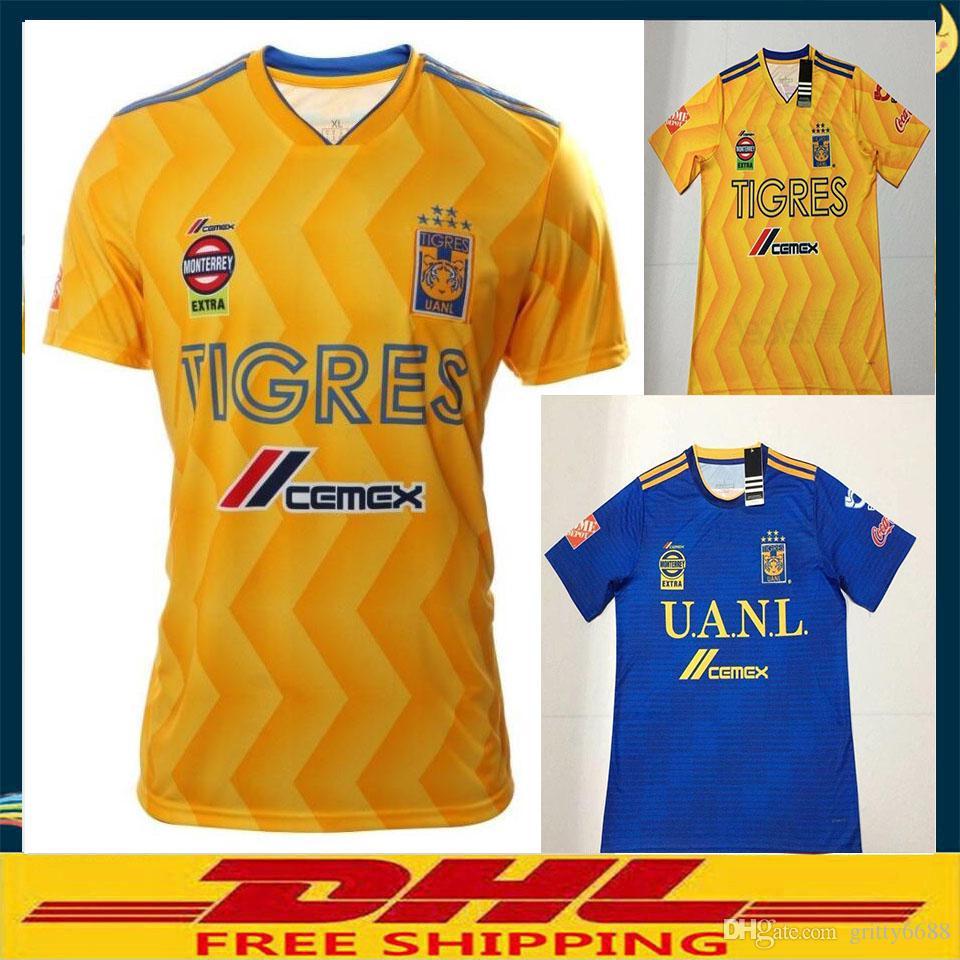 912e88897 DHL 2018 2019 Tigres UANL SOCCER JERSEY 18 19 Tigres UANL FOOTBALL ...
