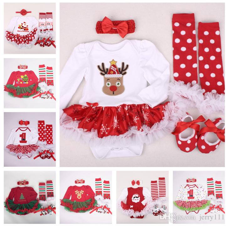 2019 Newborn Baby Christmas Clothes 20 Desings Xmas Outfits Clothing Sets  TuTu Romper Kids 0 2T Dress Cute Tutu Long Sleeve Rompers LE22 From  Jerry111, ... - 2019 Newborn Baby Christmas Clothes 20 Desings Xmas Outfits Clothing