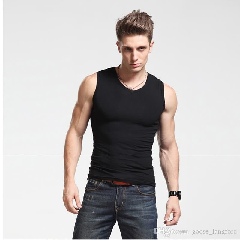 2018 fashion Golds palestre Canotta canotte bodybuilding stringer canotta uomo fitness T shirt muscle guys gilet senza maniche Top