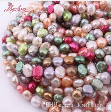 da60bc41dd87 Compre Perlas De Piedra Natural De 5 7mm De Agua Dulce Perla Barroca Para  Las Pulseras Collar De Joyería DIY Que Hace Strand 14