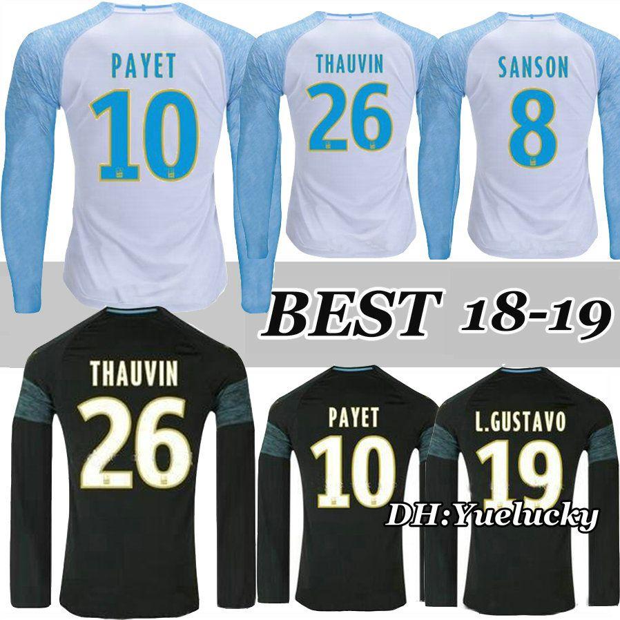 4c07616b718 Olympique De Marseille Jersey Long Sleeve 2018 2019 OM Marseille ...