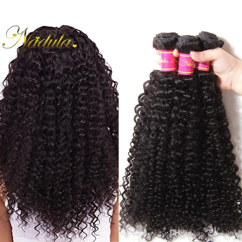 Nadula Raw Indian Hair Bundles Curly Remy Human Hair Weave Bundles